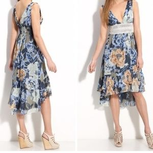 Free People Lovely Garden Floral Dress Blue Size 8